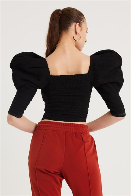 Balon Kol Crop Top