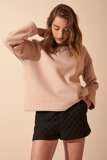 Basic Lila Renk Sweat
